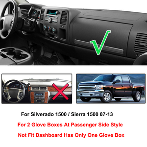 Image 2 - For Chevrolet Silverado 1500 LT HD WT 4x4 2007   2013 Dashboard Cover Dashmat Dash Mat Pad Sun Shade Dash Board Cover Carpet