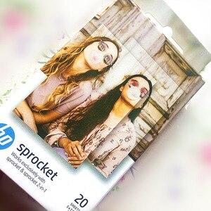 Image 4 - ورق رسم الصور الأصلي HP sprinket100 200 ورق طباعة الطابعة 5x7.6 سنتيمتر (2x3 بوصة) HP zink لصق ورق الصور 20 /40 ورقة