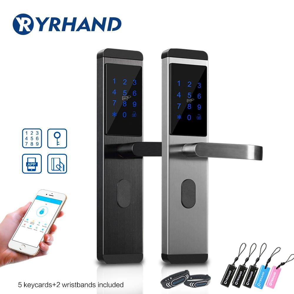 RAYKUBE Fingerprint Lock Smart Card Digital Code Electronic