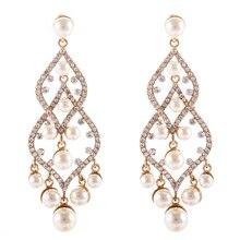 8.5 cm de Lujo de La Perla Pendientes de Araña de La Vendimia Largo de Novia Damas de Honor de La Boda de la Joyería Earing Pendientes Pendientes Brinco