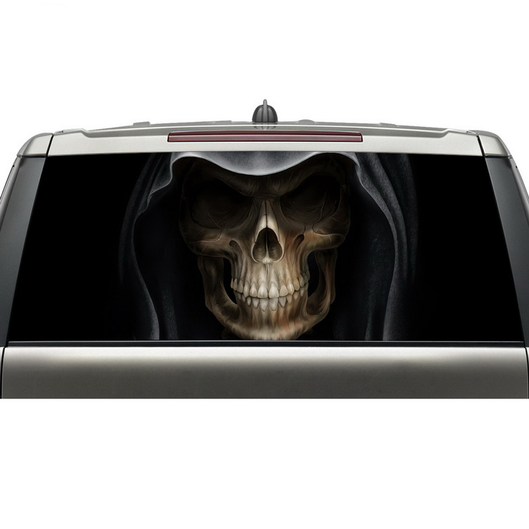 shenzhen aliexpress best selling products custom car rear windshield decals skull head graphic vinyl stickers with free shipping какой планшет на aliexpress