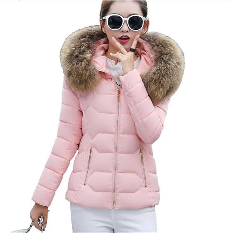 2017 Winter jacket women with hooded winter coat thick parka outwear fur collar jackets jaqueta feminina inverno womens clothing hp 932xl cn053ae
