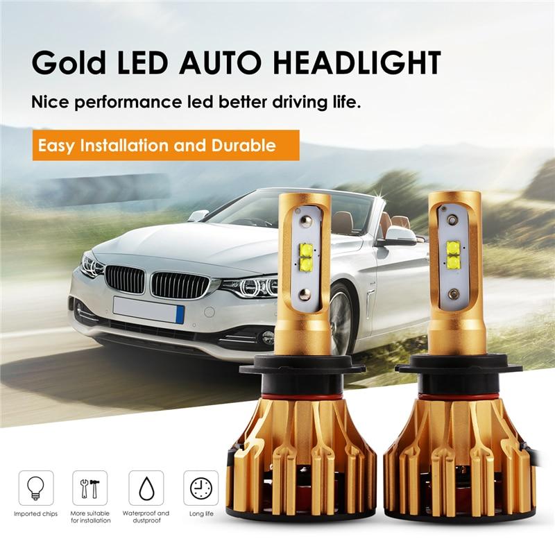 Auxmart Car Light H7 LED Bulb for Volkswagen Golf Polo Passat Santana Jetta Touarege Auto LED Headlight 70W 7000lm LED Lamp H 7