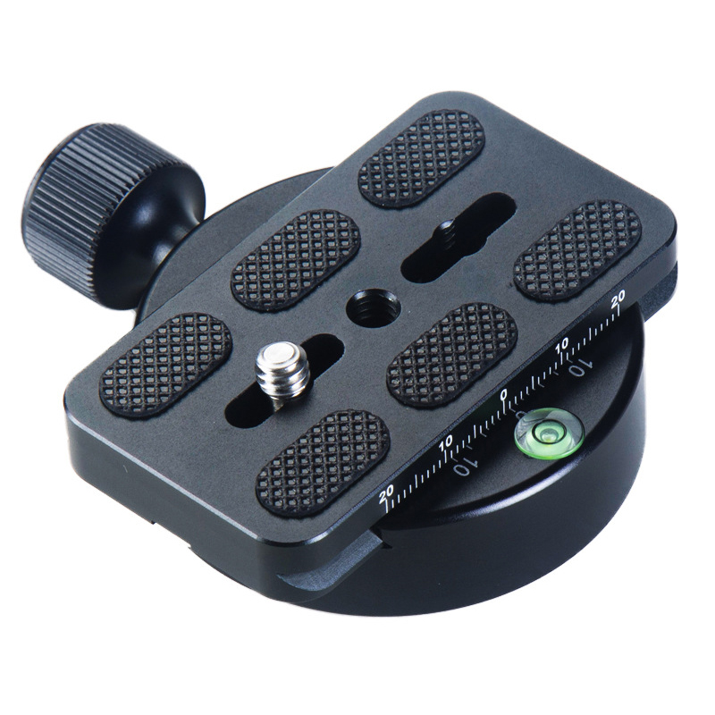 Panoramic Clamp Universal Camera Ball Head Tripod Head Disc Clamp Adapter PU-70 Quick Release Plate Compatible for Arca Swiss