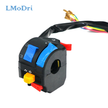 LMoDri Motorcycle Multi-function Switch 22mm Handlebar Dirt Bike ATV Five-function Switches ON/OFF For Head Light Horn Indicator