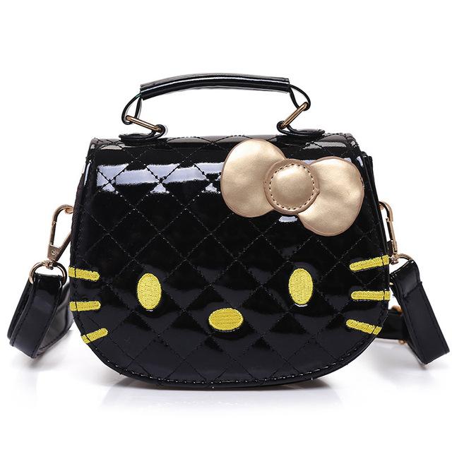 Cute Purses And Handbags Korean Cartoon Hello Kitty Fashion Messenger Bags Leather Bag Handbag Whole