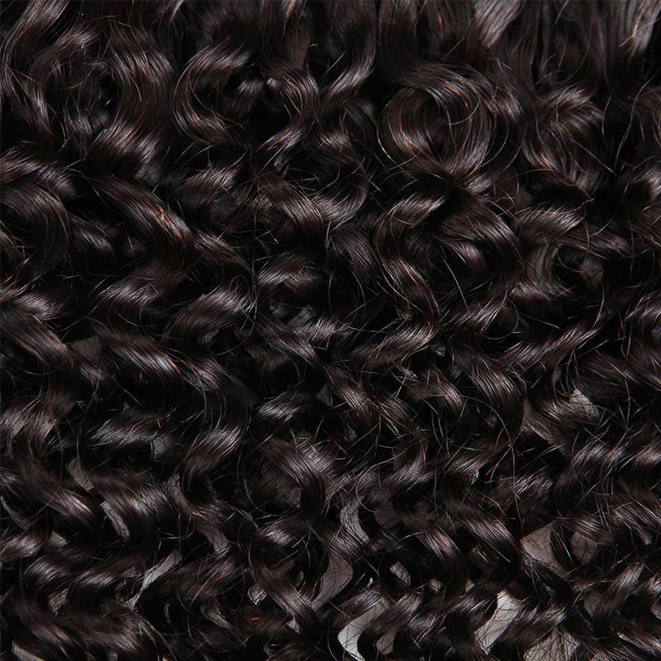 Гладкий бразильский человека Плетение объемных волос 4 Связки не наносят утка 10-26 дюймов вьющиеся человека плетение волос Бесплатная доставка