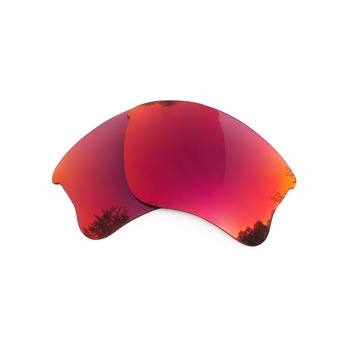 Silver Mirrored & Midnight Sun Mirrored Polarized Replacement Lenses for Flak Jacket XLJ Frame 100% UVA & UVB