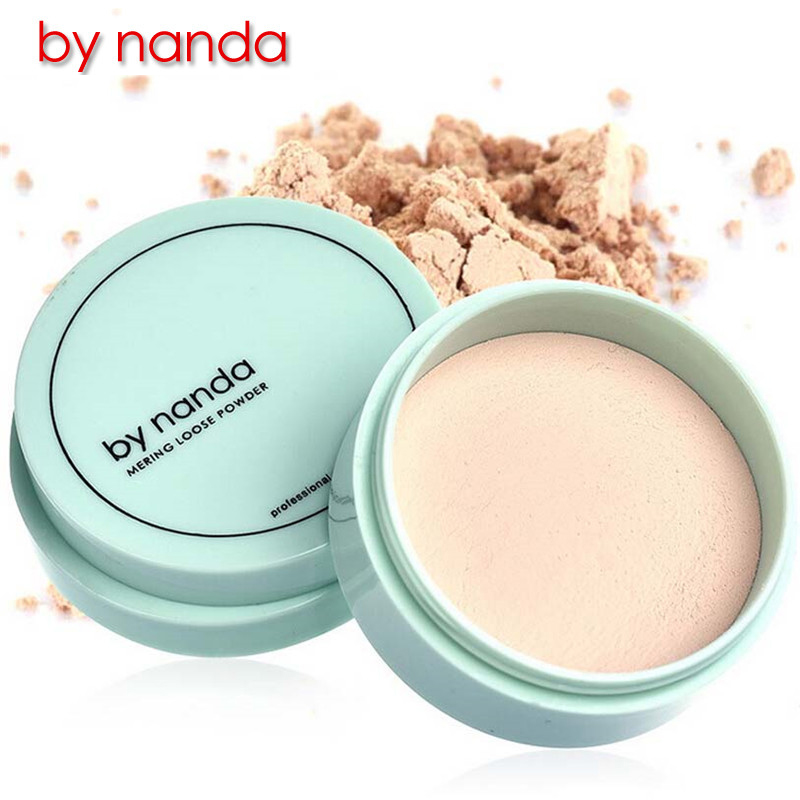 By Nanda Brand Translucent Loose Powder With Puff Skin Finish Setting Contour Makeup Foundation Face Powder Waterproof Cosmetic