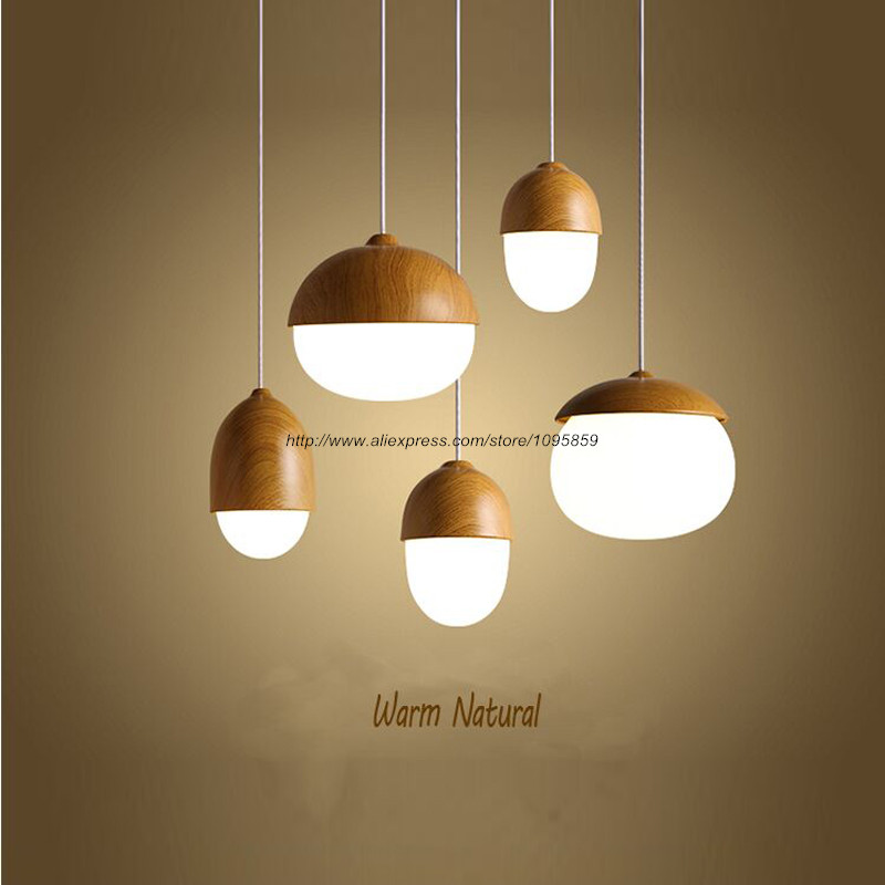 Free Shipping Modern Nordic Style Metal Acorn Nut Pendant Light Lamp Glass Ceiling Fixture Lighting ems free shipping sea blue pendant light fashion iron glass lamp cover nordic style pendant lamp