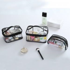 water proof PVC Transparent Cosmetic bag/pouch beutican organizer make up packing cubes/case/inside bag women large/medium/small