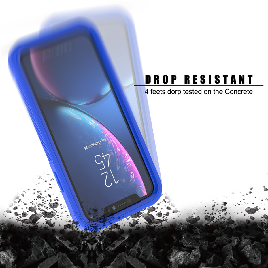 HTB1waJELHvpK1RjSZFqq6AXUVXa6 Transparent Anti-Scratch Protective Case For iPhone 11 Pro Max 6 6s 7 8 Plus X XS Max XR Hard PC+ TPU Bumper Dual Layer Cover