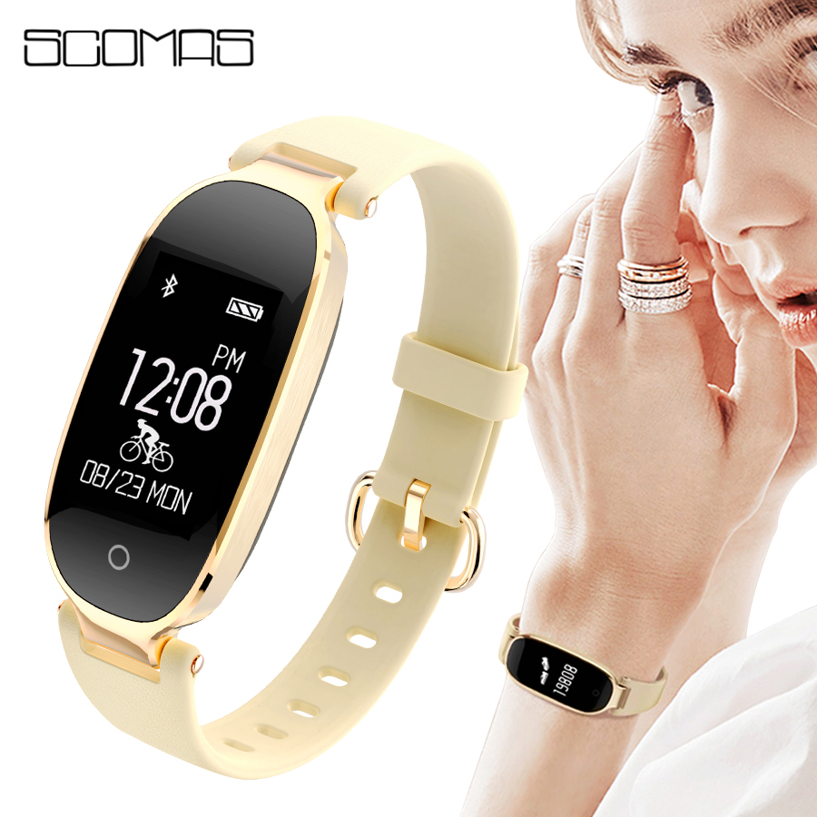 SCOMAS Fashion S3 Smart Watch Women Waterproof Heart Rate Monitor Fitness Tracker Smartwatch For IOS Android
