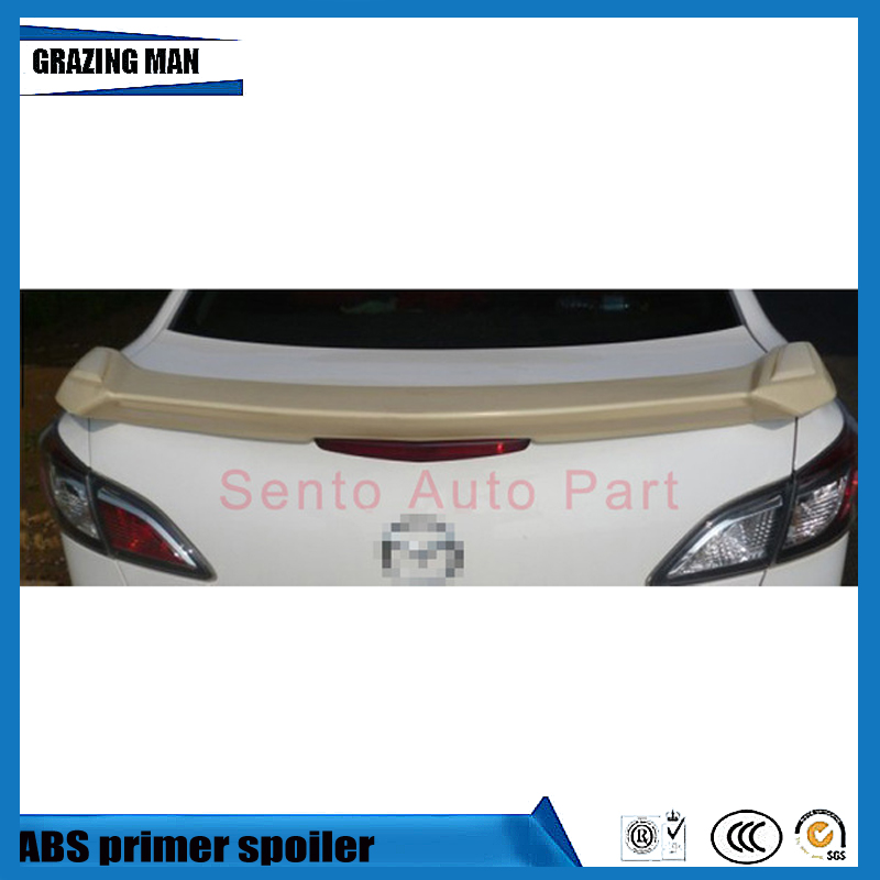 Hot Sale ABS Primer Unpainted Color Car Rear trunk Spoiler For Mazda 3 M3 2010|Spoilers & Wings| |  - title=