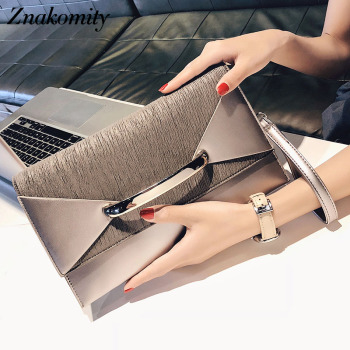 Znakomity Envelope clutch bag women leather Birthday party evening clutch bags for women Ladies shoulder clutch bag purse female