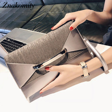Znakomity Envelope clutch bag women leather Birthday party evening clutch bags for women Ladies shoulder clutch bag purse female studded trim envelope clutch