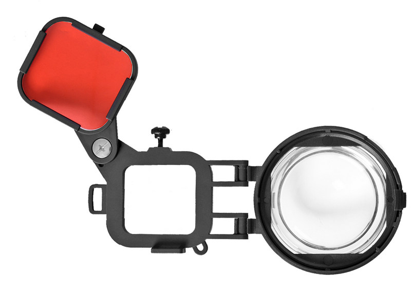 Red Color Correction Filter + 16X Close Up Macro Lens for Gopro Go Pro Hero 4 3 3+ Housing Case Underwater Scuba Lens Filter Kit (10)