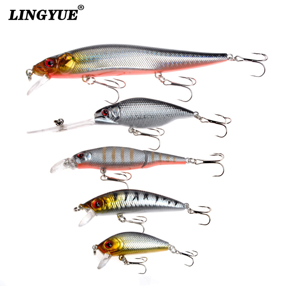 5pcs lot fishing lures set mixed 5 models minnows bait for Fishing bait and tackle
