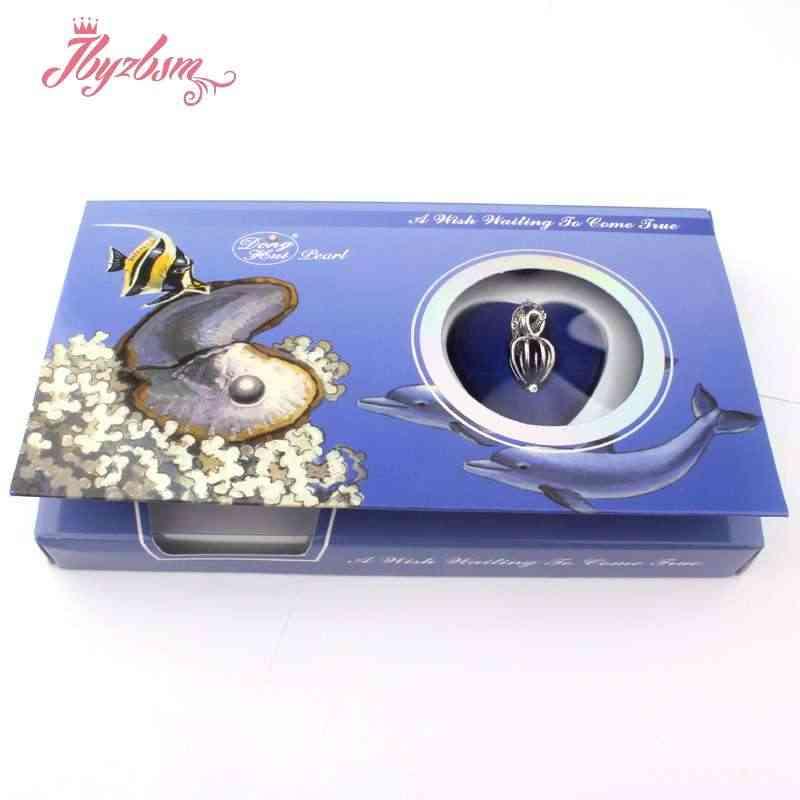 טבעי צדפה מאחל מים מתוקים פרל ארוך שרשרת תליון תכשיטים לנשים מסתורי הפתעה תכשיטי מתנה 1 סט