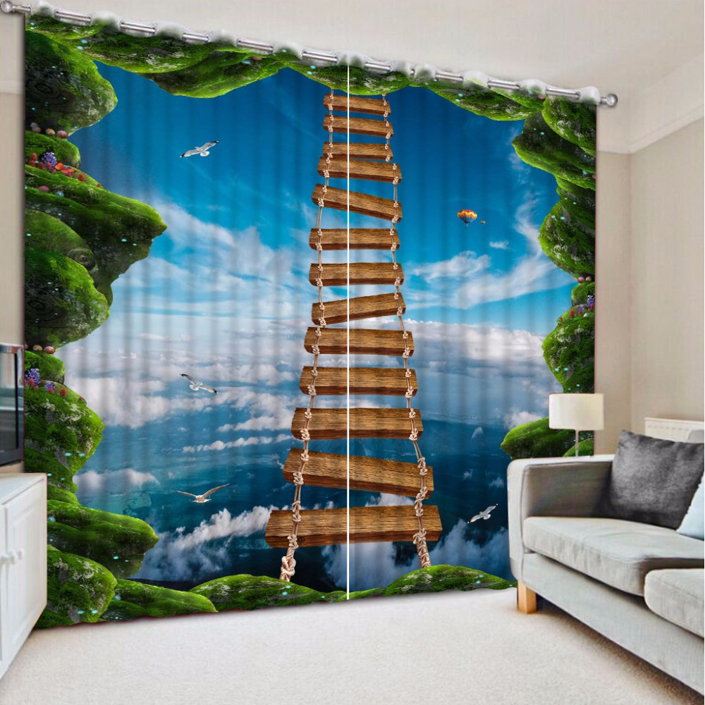 3D Curtain Fashion Customized Aerial Wooden Bridge Curtains For Bedroom Custom Any Size Curtain Blackout Curtain Living Room3D Curtain Fashion Customized Aerial Wooden Bridge Curtains For Bedroom Custom Any Size Curtain Blackout Curtain Living Room