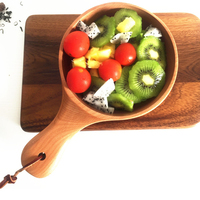 Food Container China Tommy Rice Natural Wood Bowl Bamboo Tableware Handle Salad Fruit Pickles Bowl Household Items