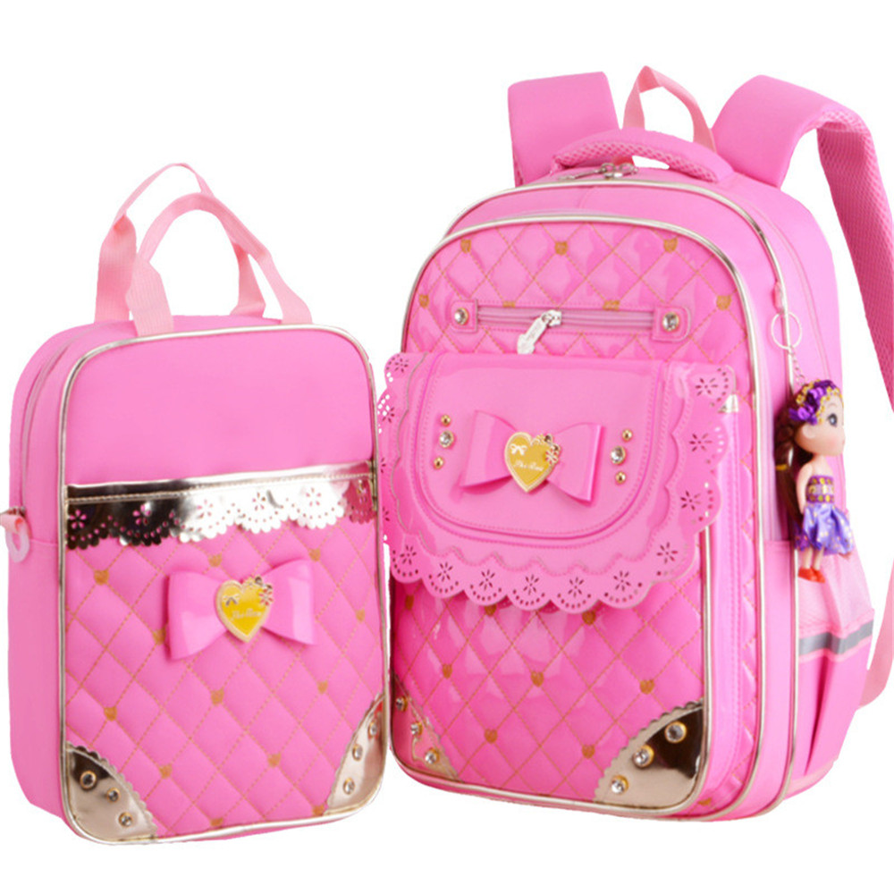 цена children school bags set for teenagers girls princess school backpack kids waterproof satchel kids backapck schoolbags mochila