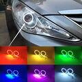 Для Hyundai Sonata i45 2009-2014 Отлично Ангел Глаза комплект Multi-Color Ultrabright 7 Цветов RGB LED Ангел глаза Halo Кольцо