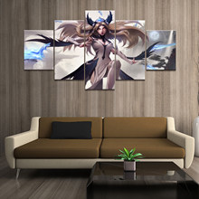 Home Decor Poster HD Pictures Prints Canvas 5 Pedaço JOGO League of Legends LOL Irelia S8 Modular Sala Decorativo pintando(China)