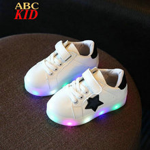 2017 Spring Kids Light Up Shoes Cool Kids Sneakers Lights Led Shoes Boy Girl Sneakers Lights Chaussure Enfant Zapatos KD306