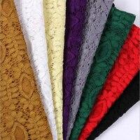 2Yards X150cm 8Colors Free Leaf Flower Mesh Polyester Venise Lace Trim Lace Fabric