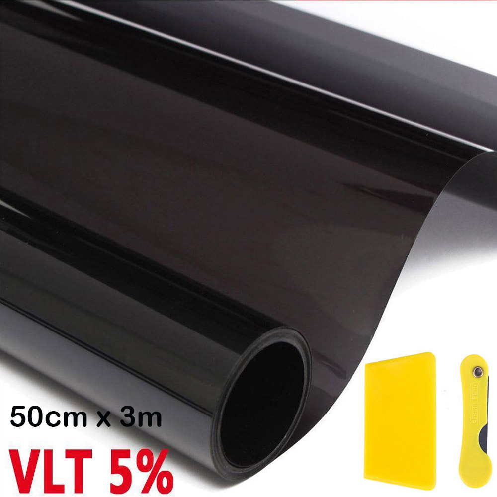 Uncut 300cm Car Window Tint Film Roll 5% VLT UV+Insulation 20 inches x 9 ft Feet for Home Commercial Office Auto Film 50cm* 3M