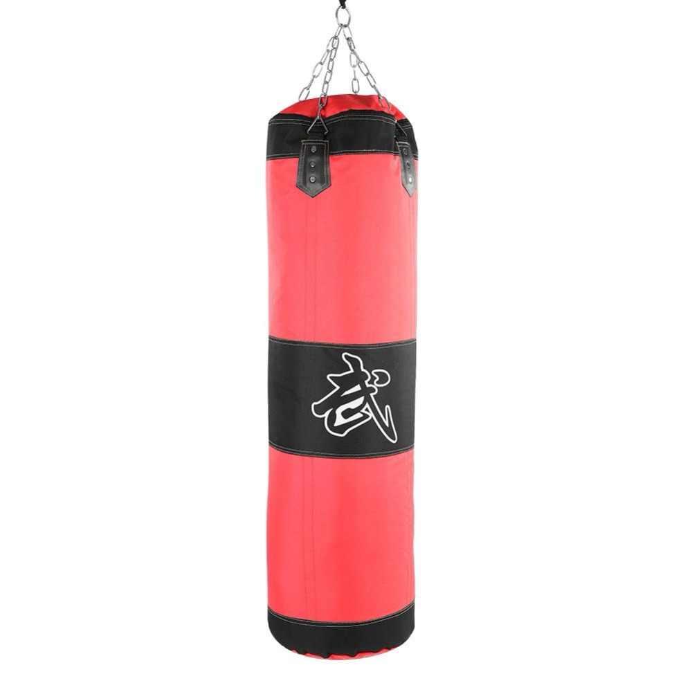 60 см 80 см 100 см 120 см пустая боксерская груша с песком сумка висячая ударная песочница боксерская тренировочная груша для каратэ набор с перчатками защита запястья
