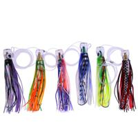 2017 SET Of 6 Pusher Style Marlin Tuna Mahi Dolphin Durado Wahoo Trolling Skirt Lures Rigged