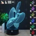Abstrato fitas 3D Night Light RGB Mutável Lâmpada de Humor e LEVOU Luz dc 5 v usb candeeiro de mesa decorativo obter um free controle remoto