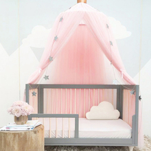 Foldable Baby Bed Crib Netting Girls Cribs Kids Bedding Dome Crown Hanging Curtain Canopy Cot Princess Tent Baby Room Decoration