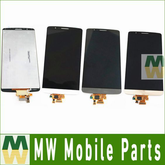 LCD Display +Touch Screen Assembly Digitizer Touch Panle For LG G3 D850 D855 Black White Gold 10PCS /Lot Free DHL EMS