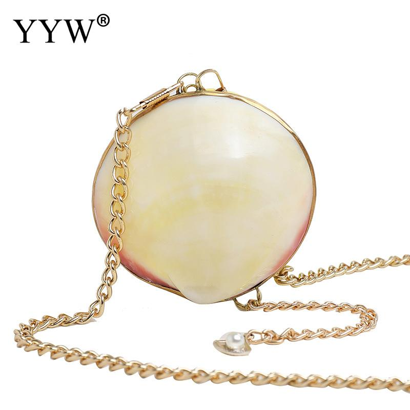 Shell Mini Evening Party Bags Women Clutches Cute Crossbody Day Clutch Prom Banquet Purse With Chain 2019 Fashion Summer