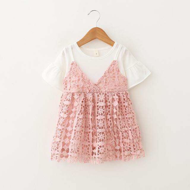 5756a991f4c3 Cotton Baby Girl Dress Kids 2018 Summer New Fashion Children Clothes ...
