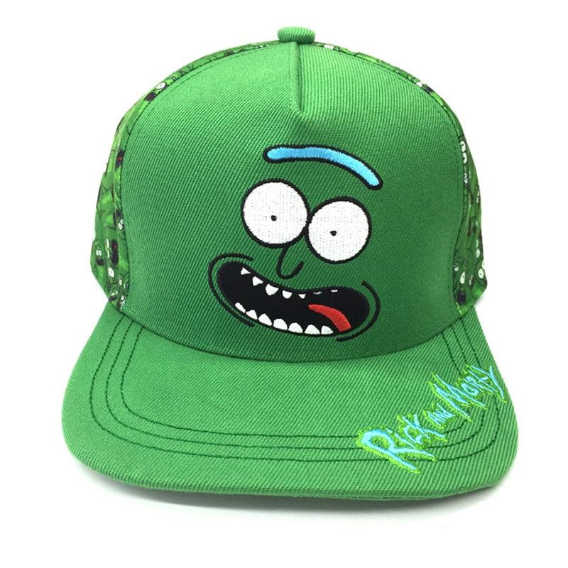Unisex verstelbare Rick en Morty Pickled Rick 3D knuffels Baseball - Kledingaccessoires