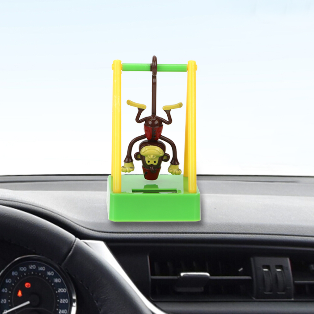 Swing Monkey Cute Car Ornament Dashboard Decoration Solar Powered Animal Doll Auto Interior Accessories Car Styling Smoothing Circulation And Stopping Pains Ornaments
