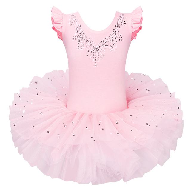 5adb65b2c BAOHULU Ballet Leotards Dress Tutu Girls  Short Sleeve Leotards ...