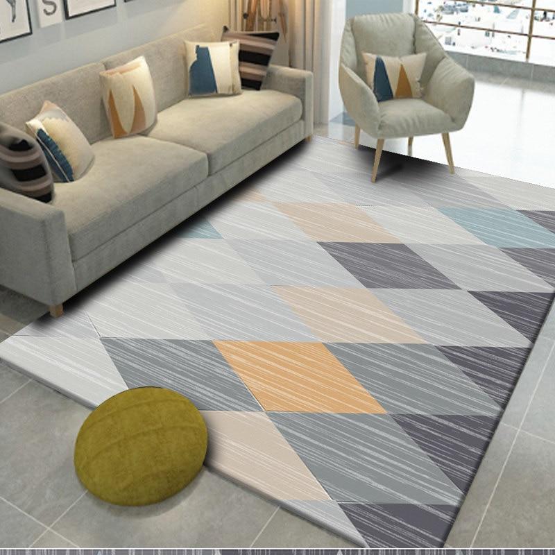 Nordic Geometric Carpets For Living Room