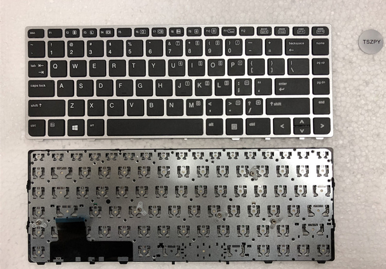 New US KEYBOARD FOR HP For EliteBook For Folio 9470M 9470 9480 9480M Silver No backlight No point 5 new interposer connector for hp elitebook folio 9470m 9480m hard drive adapter interposer connector