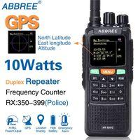 ABBREE AR 889G GPS SOS 10W 999CH Night Backlight Duplex Repeater Dual Band Dual Receiving Hunting Ham CB Radio Walkie Talkie