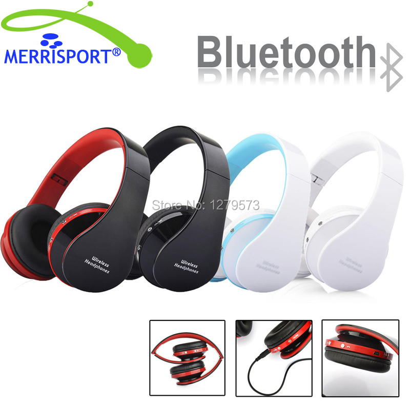 MERRISPORT Wireless Headsets Bluetooth Foldable Stereo Over-Ear Headphone with 3.5mm Audio Jack MIC for For iPhone Nokia HTC PSP fpv 1 2ghz 100mw 4ch wireless audio