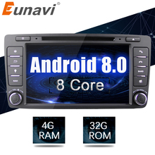 Eunavi Octa 8 core 2 din Android 8,0 4 г + 32 г dvd-плеер автомобиля для Skoda Octavia 2014 2015 A7 gps навигации радио мультимедиа DAB +