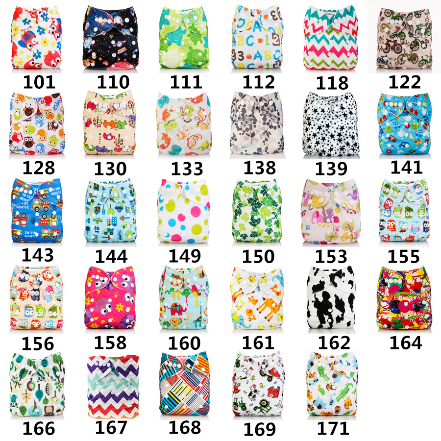 New Baby Washable Cloth Diaper Cover Cartoon Animal Adjustable Nappy Reusable Cloth Diapers Available 0-2years 3-13kg