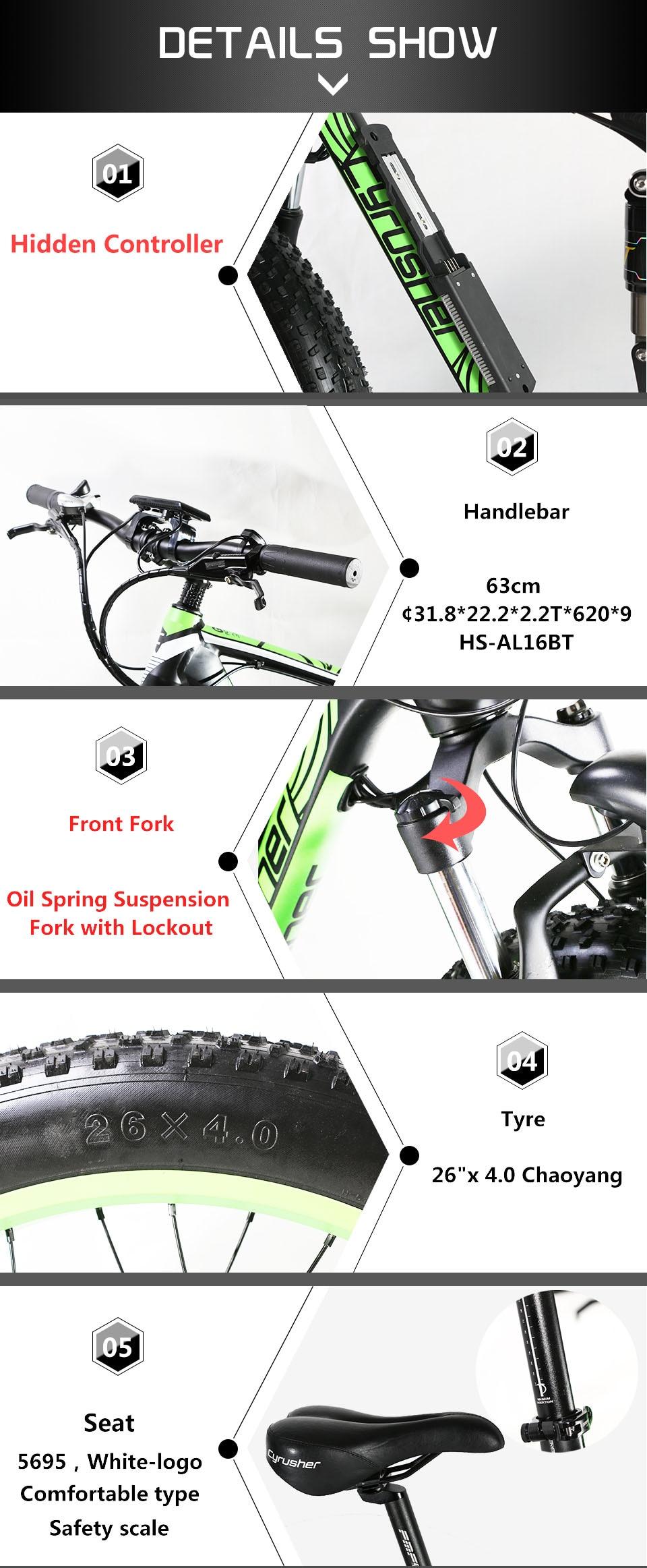 HTB1waMCM7voK1RjSZFDq6xY3pXap - Cyrusher XF800 1000W 48V Electrical Bike Full Suspension body 7 Speeds widewheel highway Bike out of doors sensible speedometer Ebike