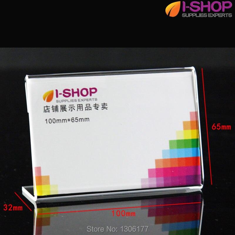 L Shape Slanted Sign Holder Portrait Counter Display Price Holders ...