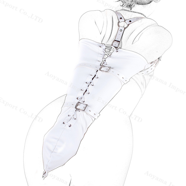 Studded Arm Cuffs Bondage Restraint, Leather Arm Binder, Rear Lower Adjustable Unisex Armbinder Harness, Adult Games Sex Toys